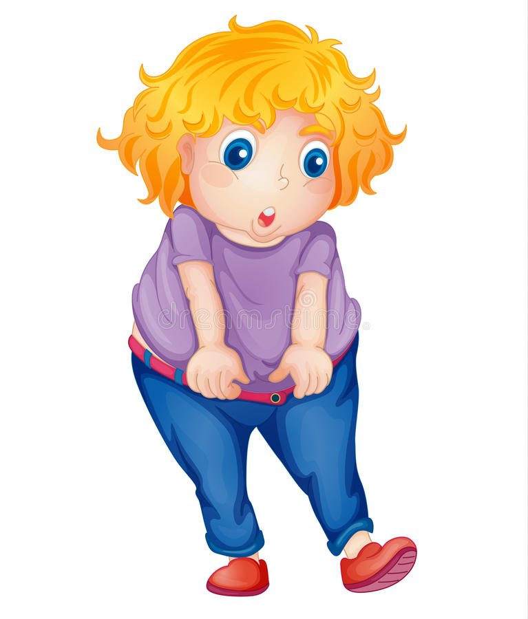 Download Fat girl stock vector. Image of children, cute, clipping - 24653673