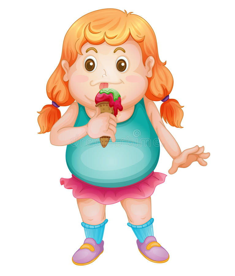 Download Fat gril stock vector. Image of fatty, snack, female - 24653677