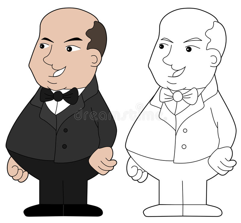 Download Fat guy cartoon stock vector. Image of male, cute, gray - 23768580