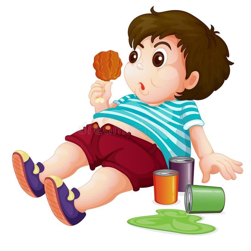 Fat kid. Illustration of a full fat kid vector illustration