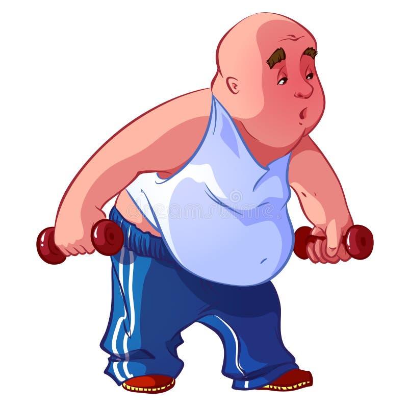 Fat man royalty free illustration