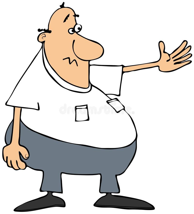 Download Fat Man Gesturing To The Left Royalty Free Stock Images - Image: 30764879