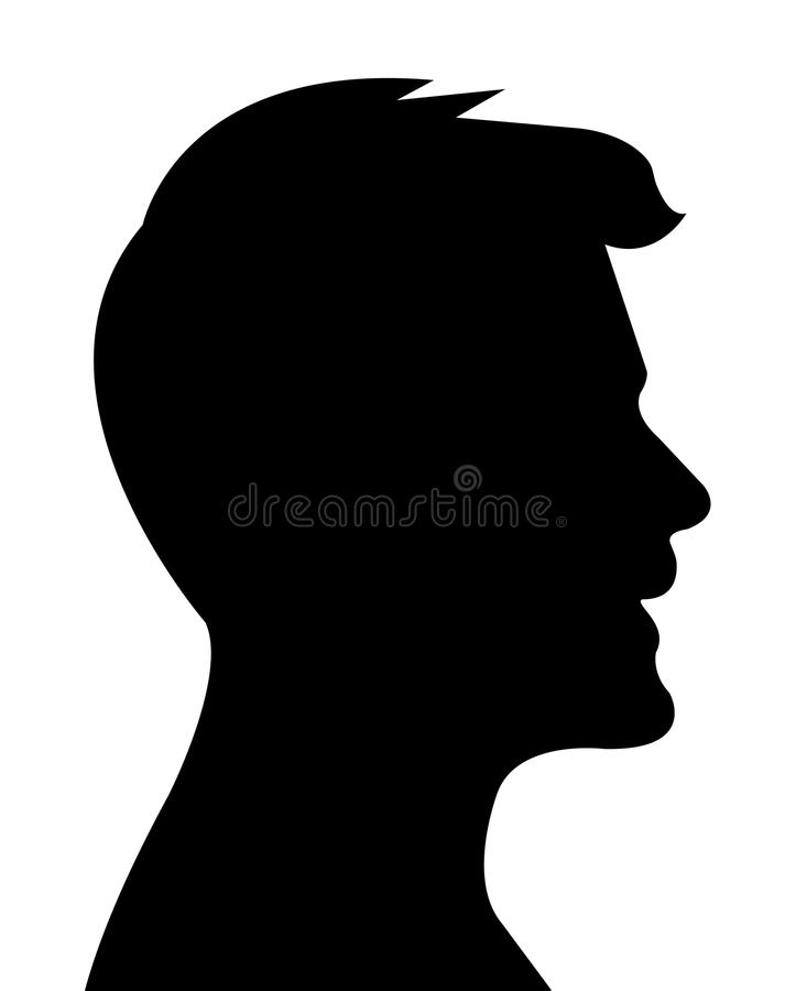 a fat man head silhouette vector stock vector illustration of face rh dreamstime com man face silhouette vector woman face silhouette vector free download