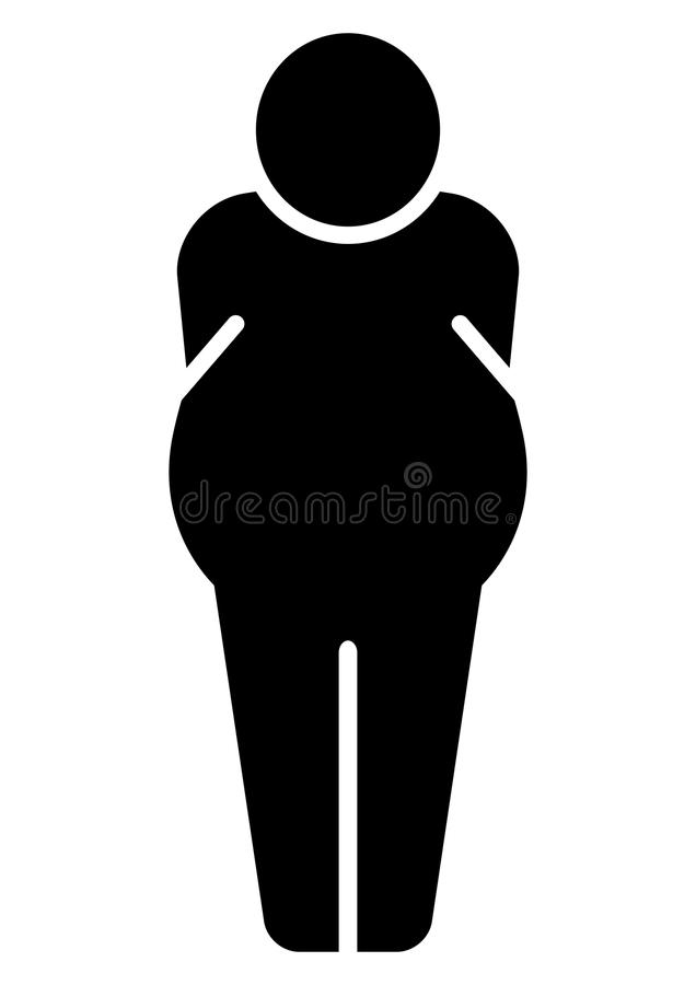 Download Fat man icon stock vector. Image of obesity, person, fatness - 14267505