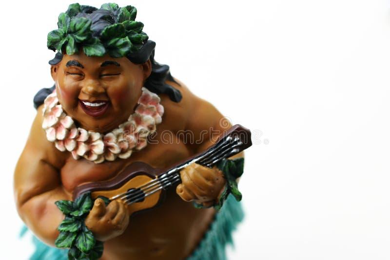 Fat man playing music stock photo