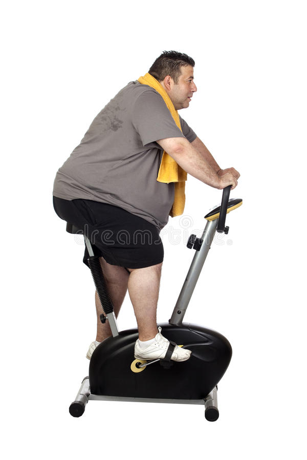 Fat Man Playing Sport Royalty Free Stock Photo