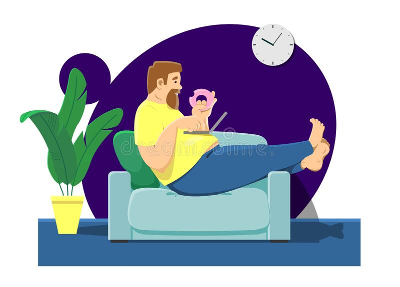 Sedentary Concept Stock Illustrations – 440 Sedentary Concept Stock  Illustrations, Vectors & Clipart - Dreamstime