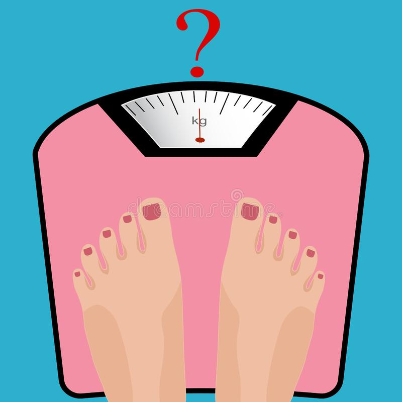 Fat Fit Weight Loss Diet Scale Before After Stock Vector