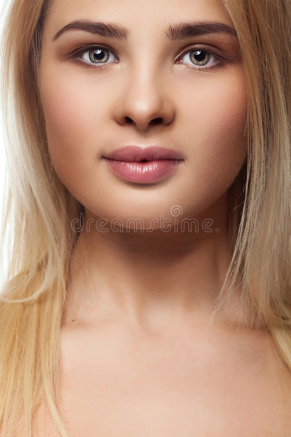 Fat overweight girl portrait royalty free stock images