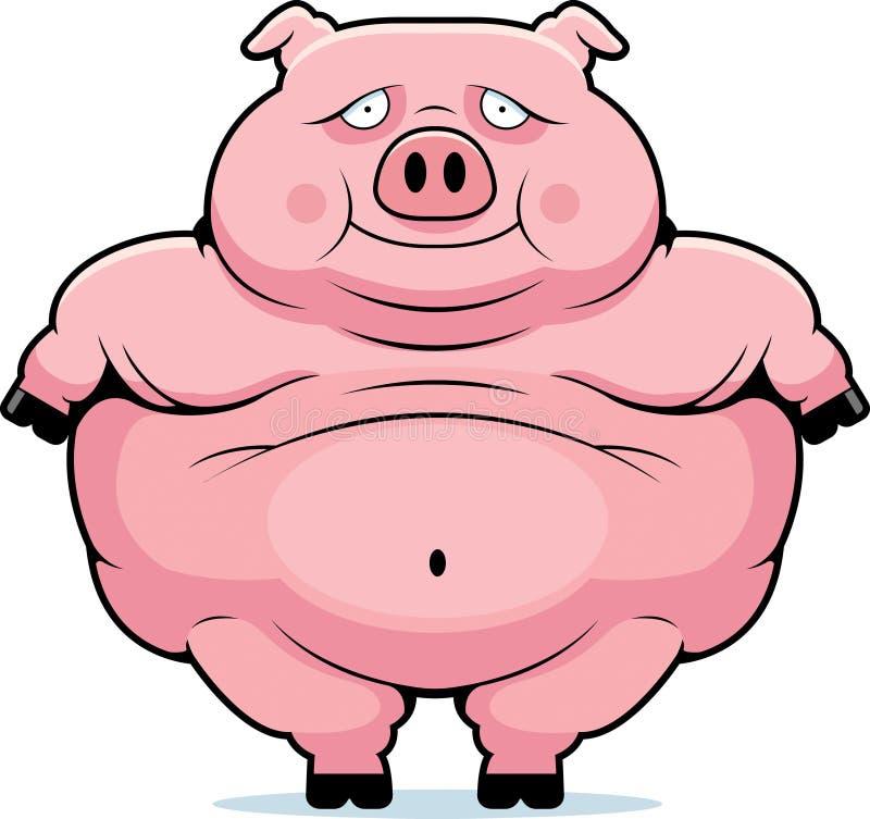 Fat Pig royalty free illustration
