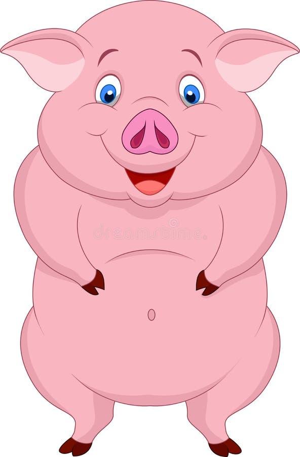 Cute fat pig cartoon