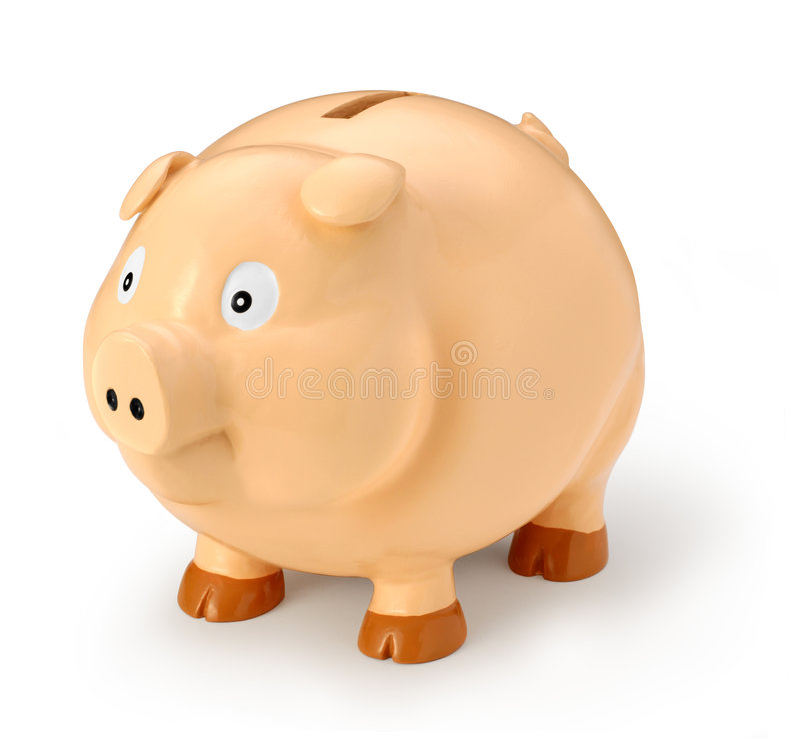 Fat Piggy Bank royalty free stock photo