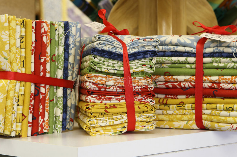 Fat Quarters Bundled for Sale royalty free stock images