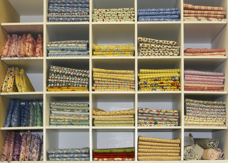 Fat Quarters Quilt Display royalty free stock image