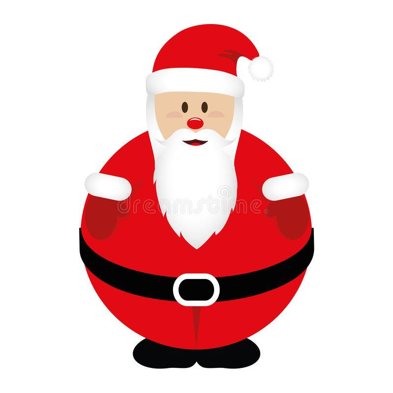 Fat Santa Claus in red clothes. Vector illustration EPS10 royalty free illustration