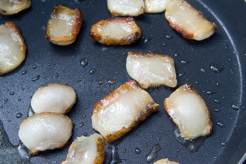 Download Fat Sputtering In The Frying Pan Stock Image - Image: 15410945