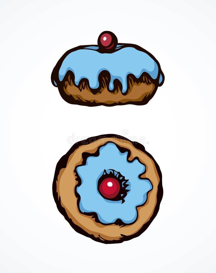 Donut. Vector drawing stock illustration