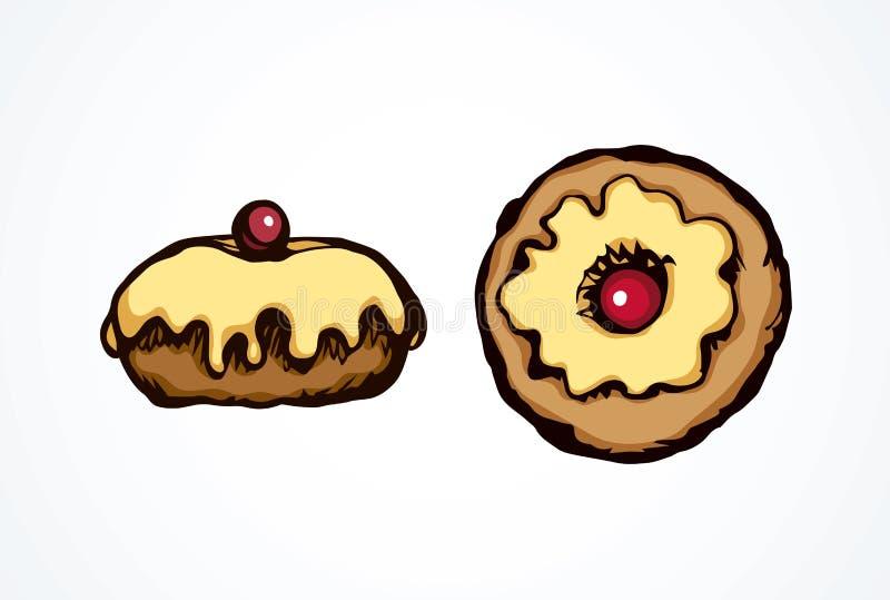 Donut. Vector drawing vector illustration