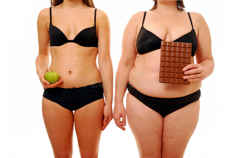 Fat and thin stock photo