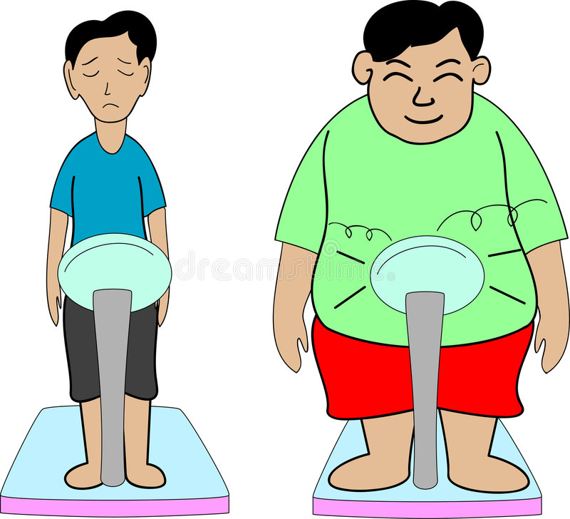 Download Fat and thin stock vector. Illustration of boys, artistic - 5785606