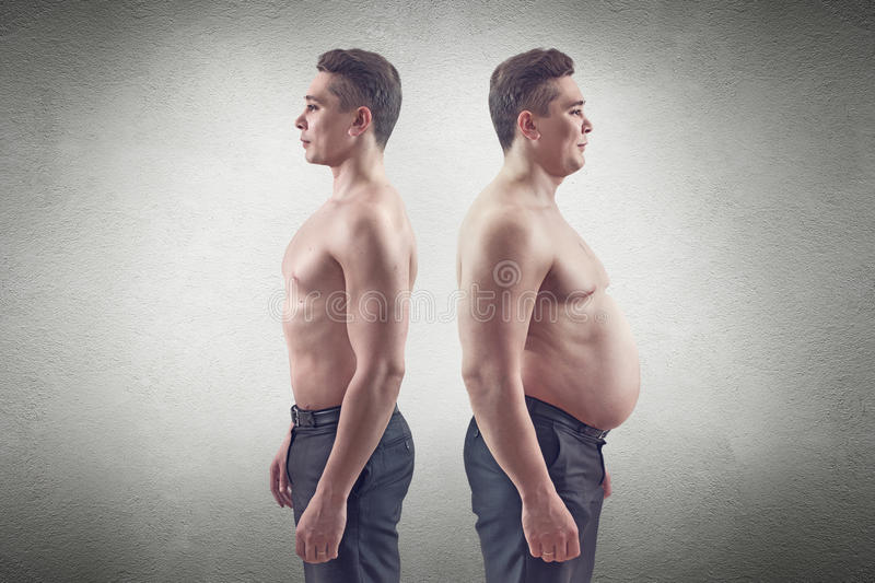 Fat And Thin Man Stock Photography