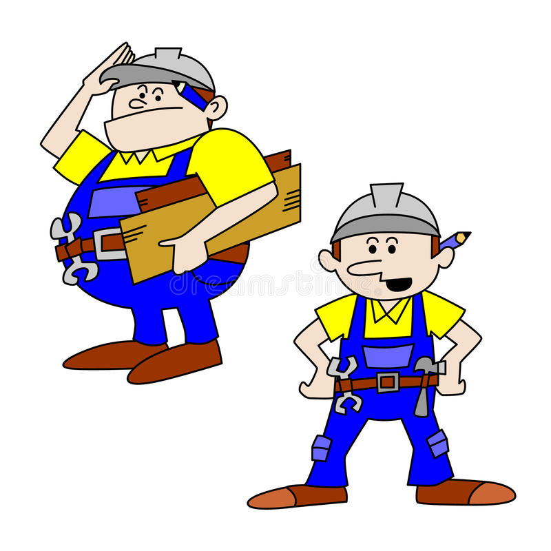 Download Fat And Thin Workmen/Craftsmen Stock Vector - Image: 15905295