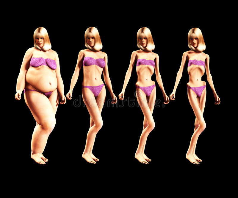 Download Fat To Thin 5 stock illustration. Illustration of anorexia - 2446586