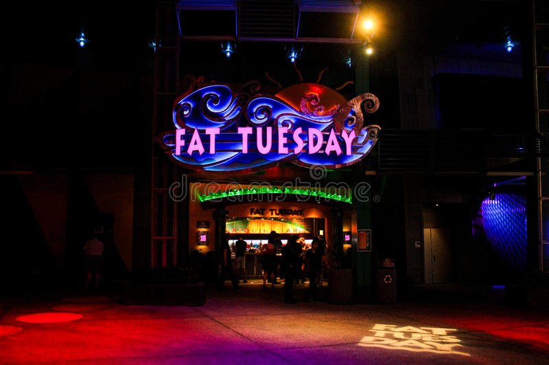 Fat Tuesday Night Club, Orlando, Florida. Fat Tuesday Night Club at Universal City Walk located in Orlando, Florida stock photography