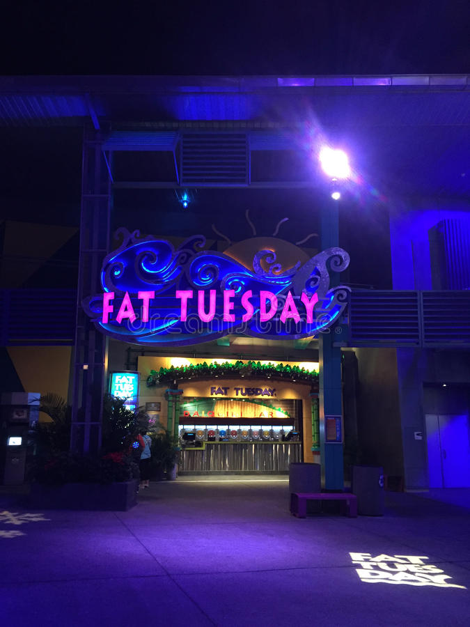 Fat Tuesday Night Club, Orlando, Florida. Fat Tuesday Night Club at Universal City Walk located in Orlando, Florida stock images