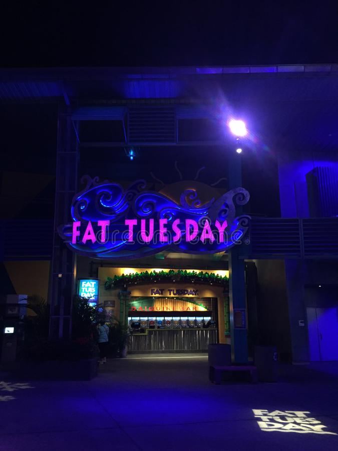 Fat Tuesday Night Club, Orlando, Florida. Fat Tuesday Night Club at Universal City Walk located in Orlando, Florida stock photo