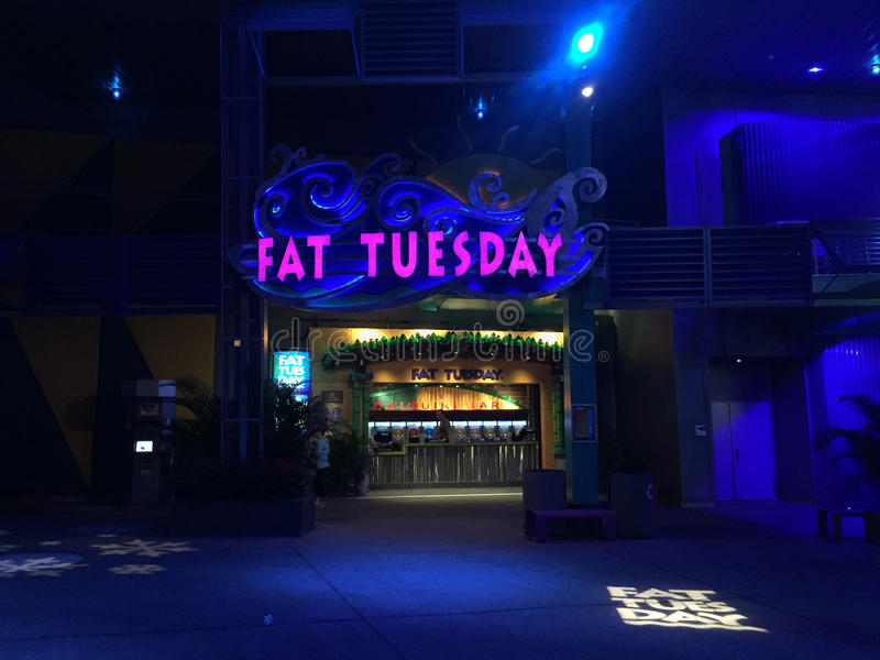 Fat Tuesday Night Club, Orlando, Florida. Fat Tuesday Night Club at Universal City Walk located in Orlando, Florida stock photos