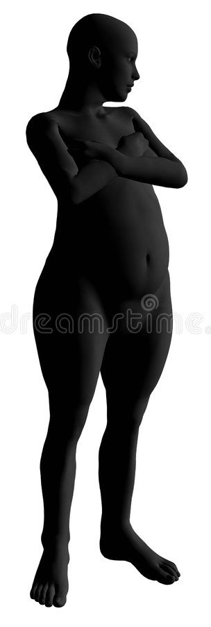 Download Fat woman model stock illustration. Image of weight, model - 7859140