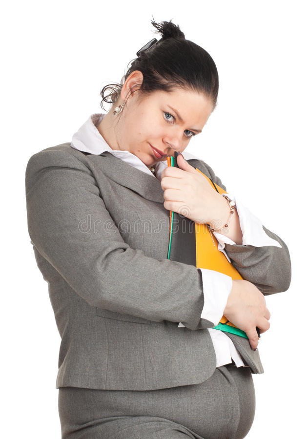 Download Fat woman with note pads stock photo. Image of awful - 20982928