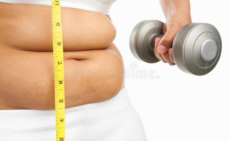 Download Fat Woman Start To Do Exercise Stock Photo - Image: 11226264