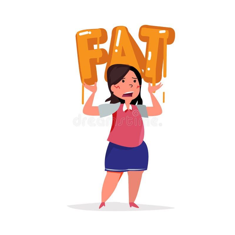 Fat women carry on fat typographic. typography design -. Illustration vector illustration