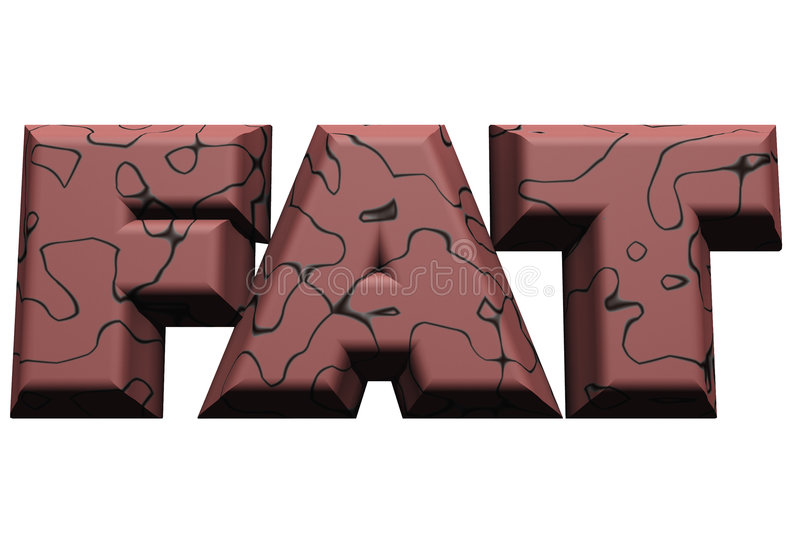 Fat Word 1 royalty free stock photo