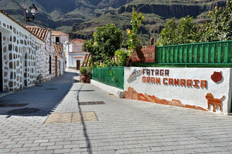 Fataga, Gran Canaria imagens de stock