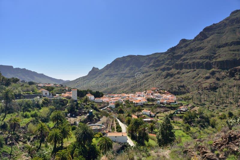 Fataga, Gran Canaria fotografia stock libera da diritti