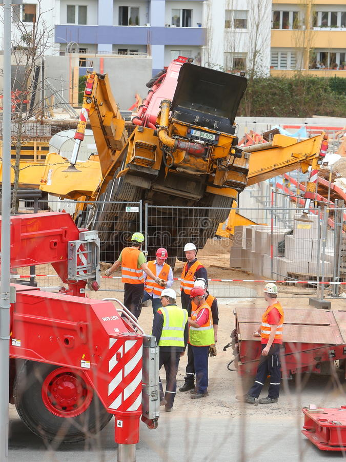 Free Fatal Accident,2 People Die After Concrete Pump Topples Over Royalty Free Stock Images - 71063379