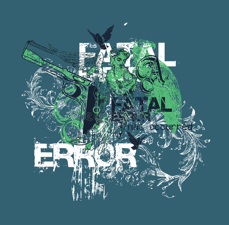 Fatal Error Design Stock Photography