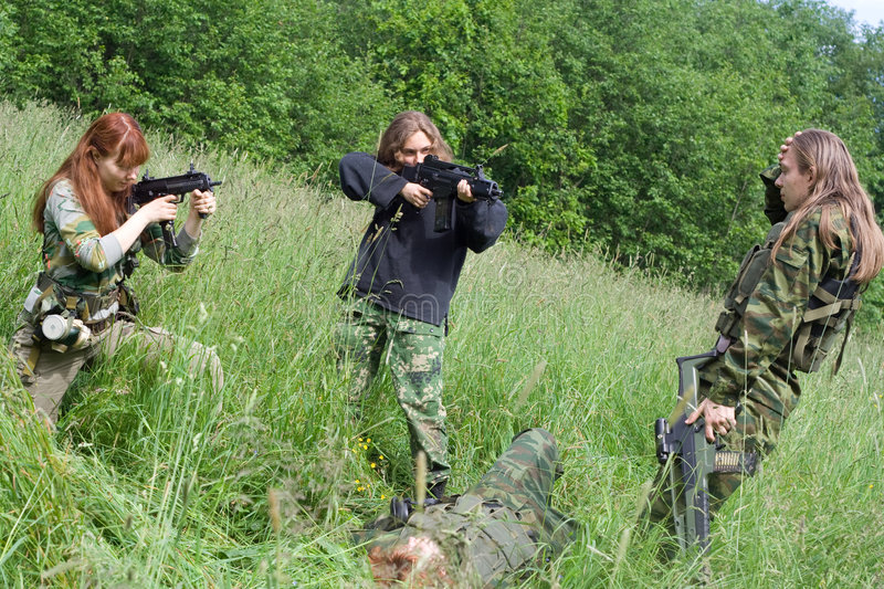 Fatal flaw. Airsoft summer thriller: fatal flaw royalty free stock image
