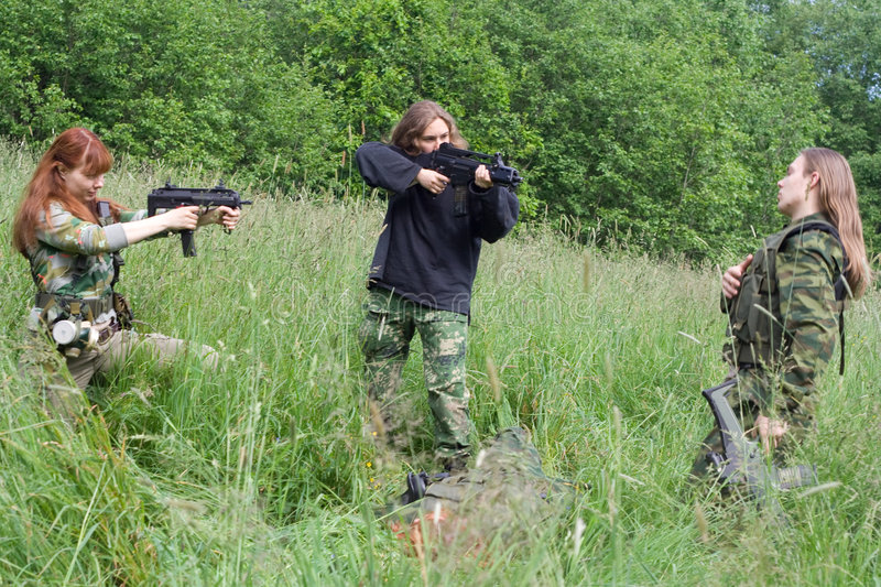 Fatal flaw. Airsoft summer thriller: fatal flaw stock photography