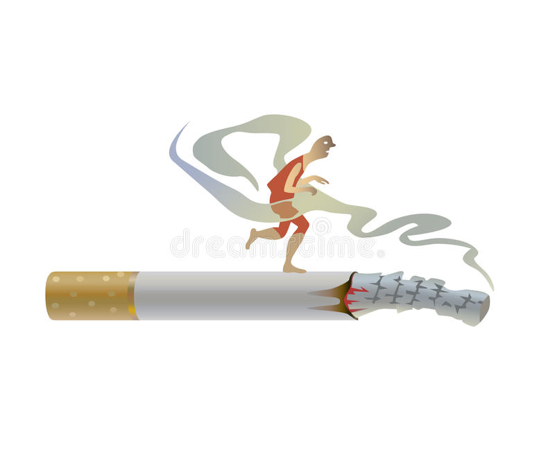 Download Fatal habit stock vector. Image of cigarette, poisonous - 18319388