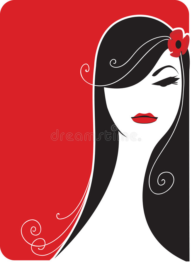 fatale femme royalty ilustracja