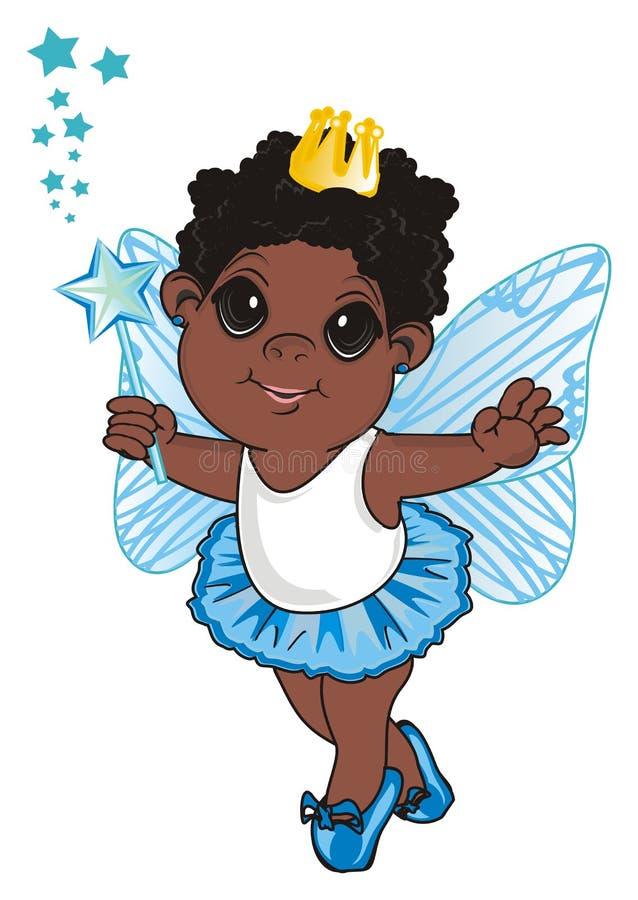 Fatato di afro con la bacchetta royalty illustrazione gratis