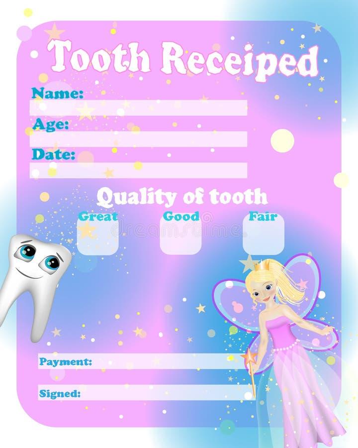 Fatato di dente del certificato illustrazione vettoriale