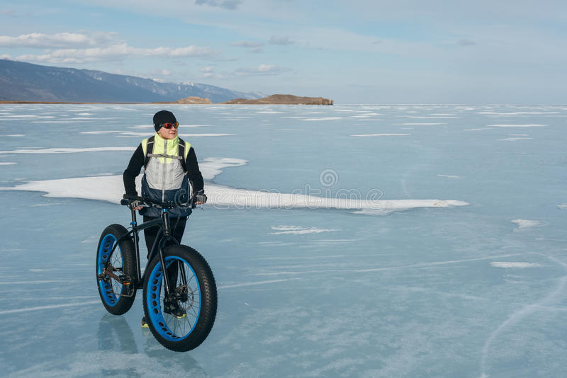Fatbike. Fat tire bike. royalty free stock photo