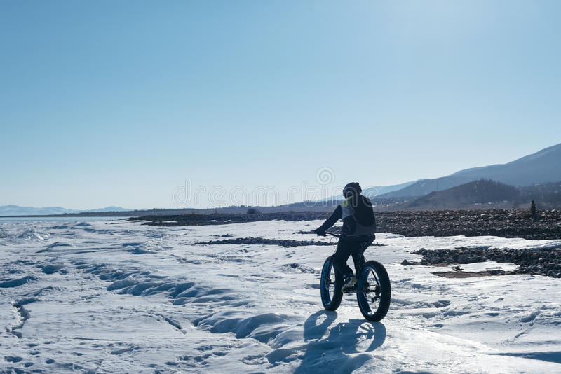 Fatbike. Fat tire bike. royalty free stock images