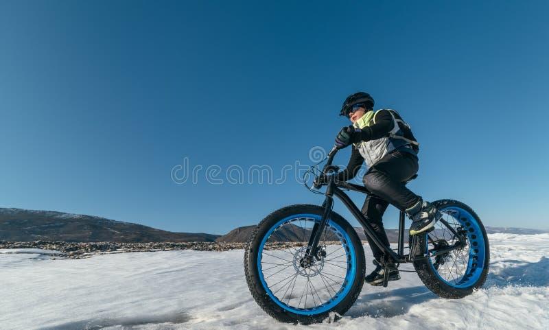 Fatbike. Fat tire bike. stock photography