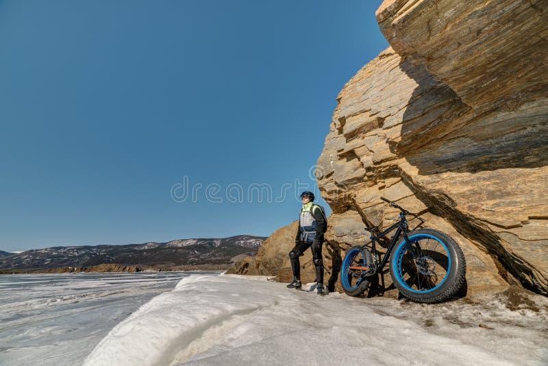 Fatbike. Fat tire bike. royalty free stock photography